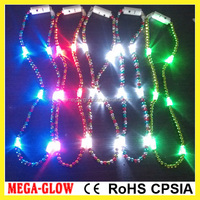 Wholesale led christmas light necklace mardi gras beads high quality LED necklace mardi gras beads