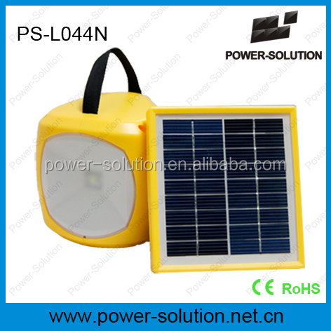 Portable solar reading lamp 1.7W 6V solar panel with mobile phone charger for rural areas