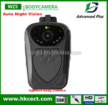 Turkish Russian English menu software customized factory police body worn camera with Automatic night vision G-sensor 1080P HD