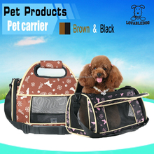 New Nylon Oxford Pet Carrier Bag Breathable Dog Cat Puppy Travel Tote Checked Bag
