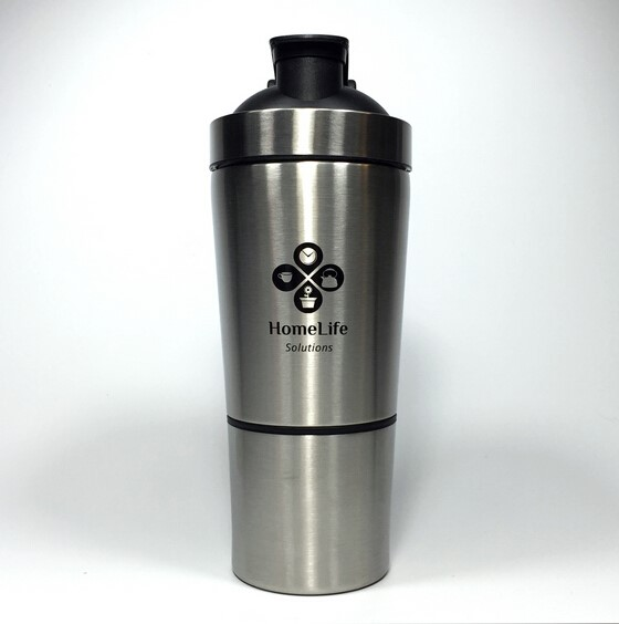 Protein Shaker Logo: Custom Logo Stainless Steel Protein Shaker/shaker Cup With