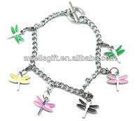 metal dragonfly charm bracelet