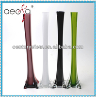 Colored tall glass effiel antique glass vases