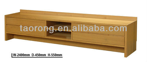 Hotel living room furniture LED wood TV units TR6784