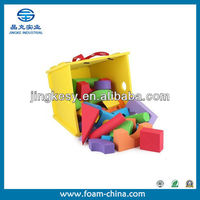 Non toxic waterproof safe ecofriendly foam building blocks for kids toys