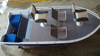 4.95m aluminum bass boat for fishing in river or lake