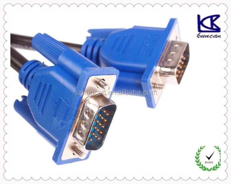 24k gold plated db9 cable to dvi cable dvi to av adapter