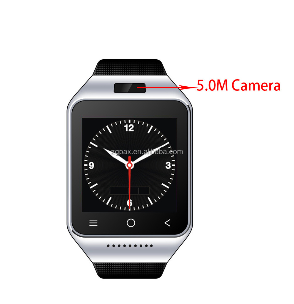 ZGPAX s8 smart android watch support 3G WCDMA,5.0M camera,4.0 bluetooth
