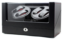 High-end Ultra Quiet Carbon Fiber Watch Winder for 4 Automatic Watches