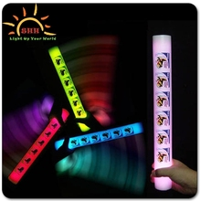 led flashing light glow candy cane foam stick
