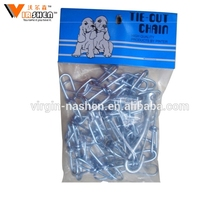 Galvanized steel USA standard knotted dog chain animal chain