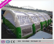 2015 giant new design rain resist waterproof windproof inflatable tennis court tent for tennis club