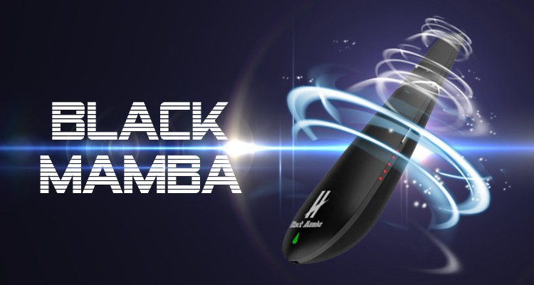2018 trending products New Top Quality Design Portable Black Mamba Dry Herb Vaporizer OEM Acceptable