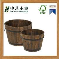 China supplier antique color wholesale wooden bucket