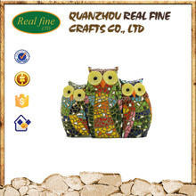 New hot sale owl design full hand craft for resin patung cheap wholesale