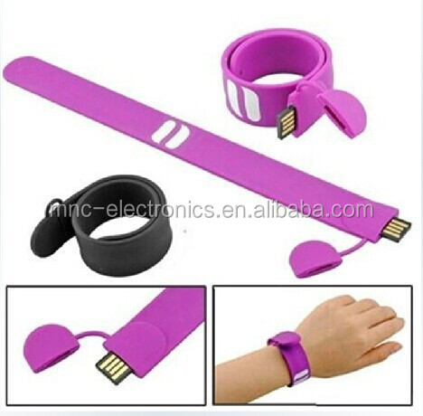 Silicone Wristband Bracelets or Bangles Type Cheap real capacity 32GB OTG Micro usb Smart Phone usb Flash Drive