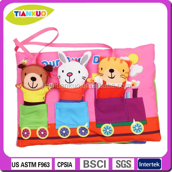 educational toy fabric baby cloth book baby touch and feel books