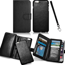 Cell phone accessory accessories multifunction luxury high-end flip wallet leather cases for iphone 6/6S plus