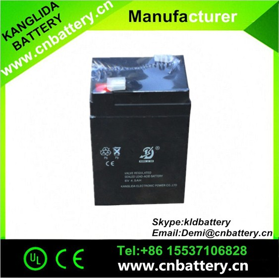 kanglida battery6v4.5ah 5ah! lead acid deep cycle battery 6v4.5ah 5ah, electric toys battery