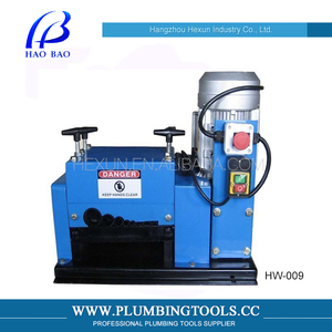 Hexun HX-009 Automatic Electric Scrap Copper Wire / Cable Stripping Machine (7 Round Holes & 2 Flat Hole)