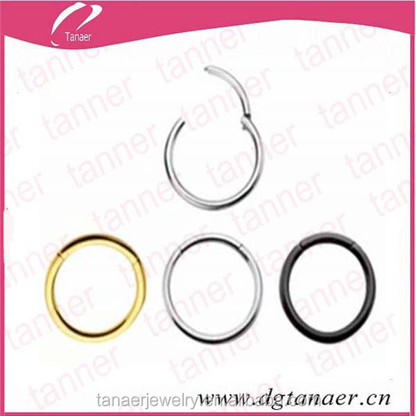 Jewelry retaining flat stainless steel spring ring clips