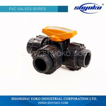 High-efficiency three way ball cock valve dn40 valve
