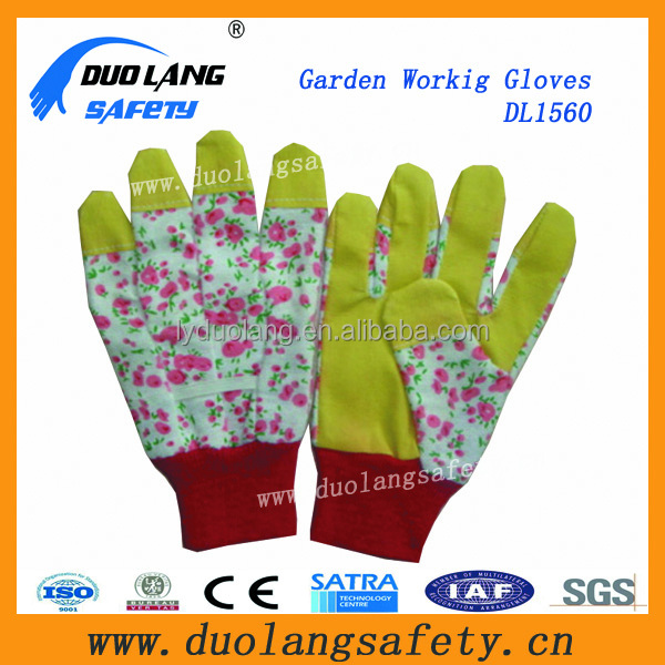 fashion waterproof abrasive resistant safety working gardening gloves
