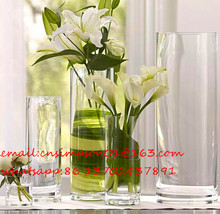 crystal vase decorations wedding decoration, clear round glass vases