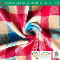 Changshu hot sale custom high quality polyester printed knitted plush short cotton fabric wholesale for home textile and sofa
