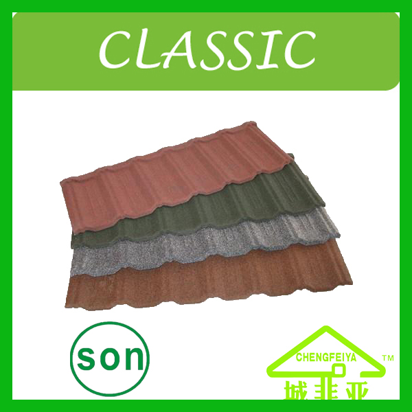 most popular Africa style stone coated steel roofing sheet