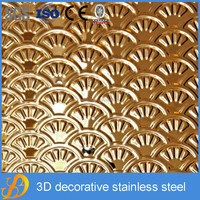 ssdmetal export India 304 3d stainless steel price thermocol plate decoration