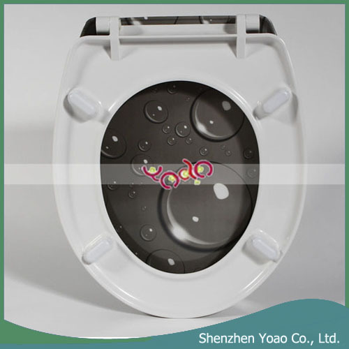 New Water Drop Pattern Urea Formaldehyde Toilet Seat Cover Plate