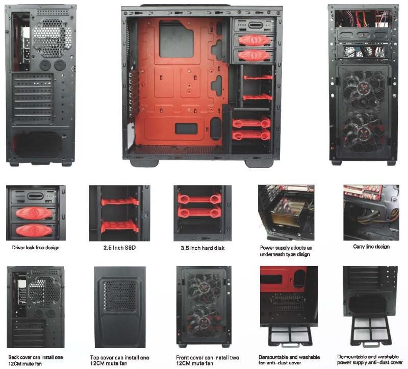 68 series cheap carte mere ATX gaming case
