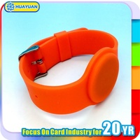 Programmable NFC NTAG203 213 silicone RFID event bracelet