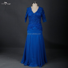 RSE674 Elegant Lace Vintage Royal Blue Mother Of The Bride Evening Dresses