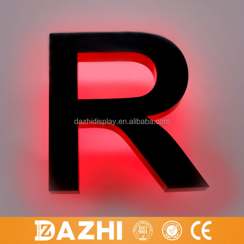 2015 high quality decorative 3d bubble letters metal wall decor letters for logo
