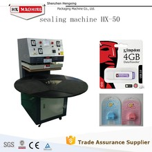 Electronic product blister packing machine