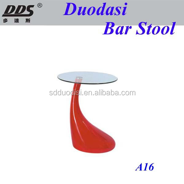 2015 wholesale modern High quality modern round ABS bar table in red color A16