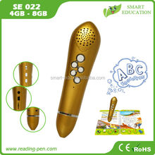 new hot cartoon design translator pen wizard HD speaker speaking pen to learn English Russian Spanish Turkish
