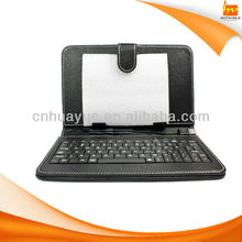 10.1 inch tablet leather case cover with keyboard black/brown