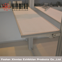 Product or Literature shelf attaches to stand system/exhibition equipments