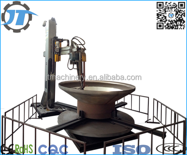 Dish end/tank head/tank curved parts surface automatic polishing buffing machine