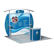Incase portable aluminun trade show booth for promotion
