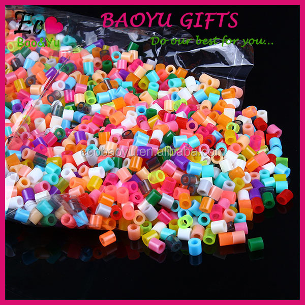 Custom Popular Creation Kids DIY Crafts Plastic Hama Perler Beads 5MM