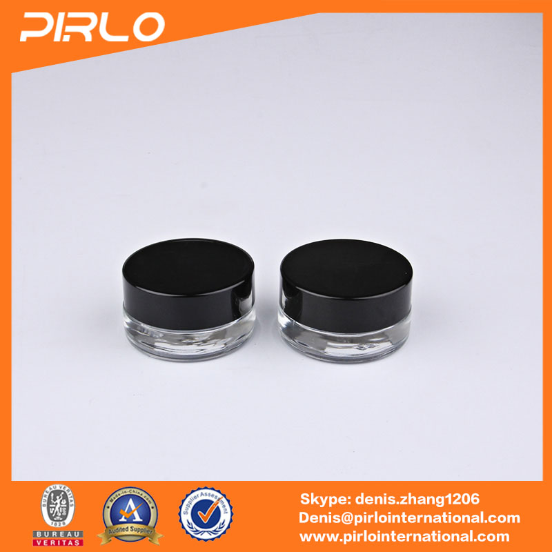 10g thick bottom glass material cream jars with lid cheap Chinese glass jar supplier