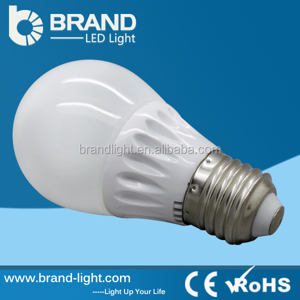 Beam angle 360 degree 50*H102mm CE ROHS 5watt led lighting bulb ceramics body glass cover SMD5630