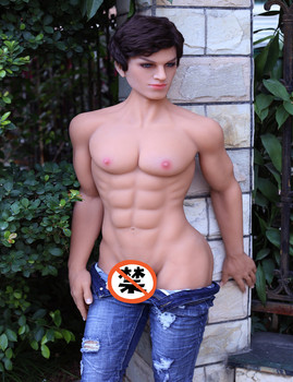 new 2018 160cm customizable muscle man doll for woman big penis