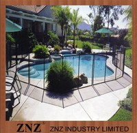 Vinyl Removable Indoor Outdoor Swimming Pools Fence Black Safety