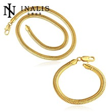 Handmade Dubai New Gold Plated Chain Statement Jewelry Set Fashion