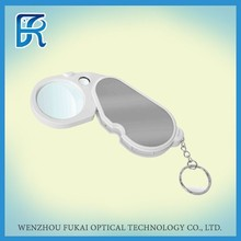 plastic pocket magnifier with led light for promotion